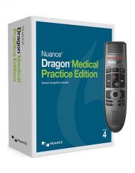 Dragon Medical Practice Edition 4 with Philips Speechmike Premium Touch SMP3700